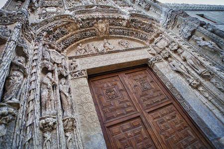 Low Angle View of Colegio San Gregolrio facade  Valladolid, Spain  photo