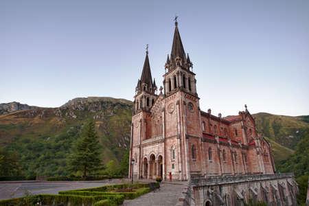 Covadonga Church, Basilica de Covadonda, Picos de Europa  Asturias, Spain, Europe