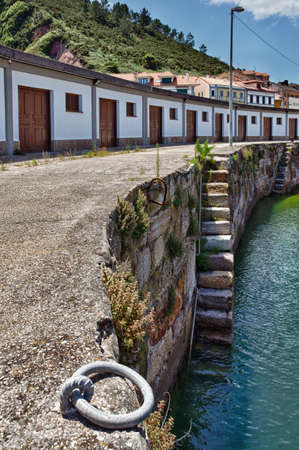 asturias: Fishing Pier in Candas, Asturias  Spain  Stock Photo