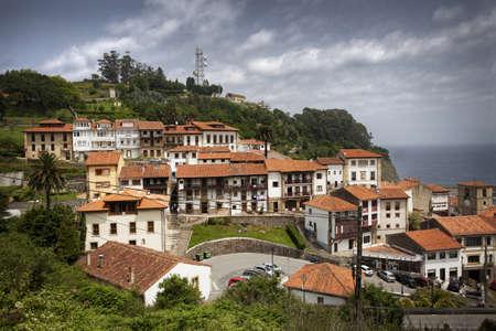 Small fishing village on the Spanish coast, Asturias, Spain  photo