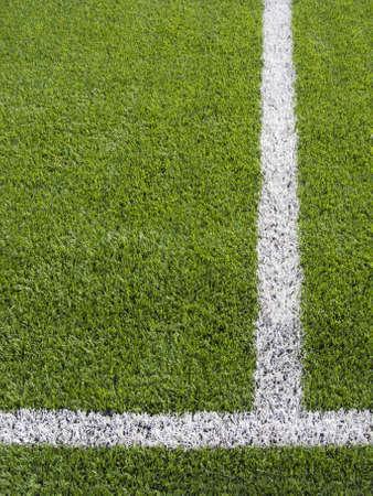 Limit lines of a sports grass field