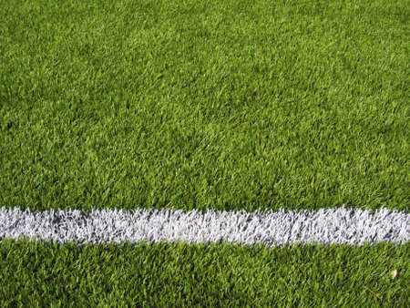 Limit lines of a sports grass field