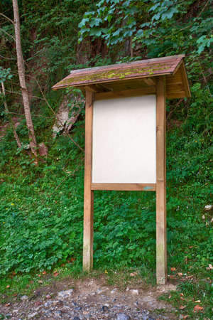 Wooden information panel in a park Stock Photo - 16354426