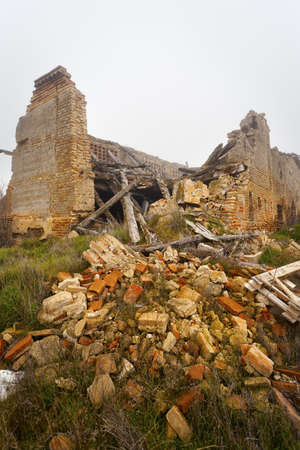 Spanish Monastery collapsed for leaving. Valladolid Stock Photo