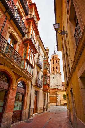 Typical old street in Valladolid, Castilla y Leon. Spain.