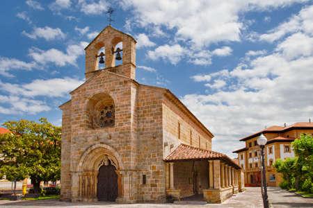Santa Maria de la Oliva Church, Villaviciosa. Asturias, Spain.