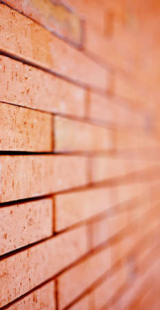 composition vertical: Muro di mattoni con messa a fuoco selettiva. Composizione verticale. Archivio Fotografico
