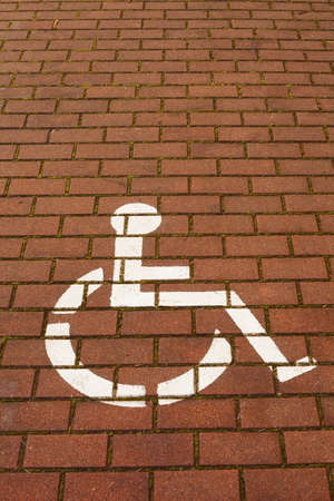 Reserved for Handicapped Parking Sign Stock Photo - 17336559