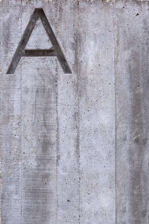 Letter A over concrete wall. Textured background. Stock Photo - 17336571