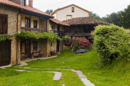 Beautiful cottages in Northern Spain. Asturias. Spain