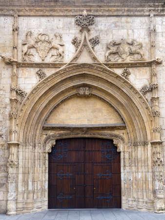 Beautiful monumental gate. Burgos , Spain.