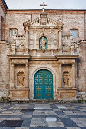 Beautiful monumental gate, Las Francesas Church. Valladolid , Spain. photo