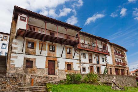 northern spain: Beautiful cottages in Northern Spain. Lastres, Asturias. Spain