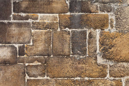 Old Brown Stone Blocks Wall for Background or Texture Stock Photo - 19318879