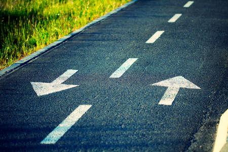 Two way traffic arrows. Cross procesing effects.