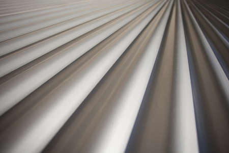Covering of Corrugated Iron in Diminishing Perspectivel for Backgrounds or Texture photo