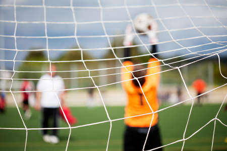 sports uniform: Goalkeeper with selective focus for Sports Backgrounds