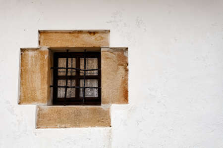 Beautiful little stone window. North Spain traditional.