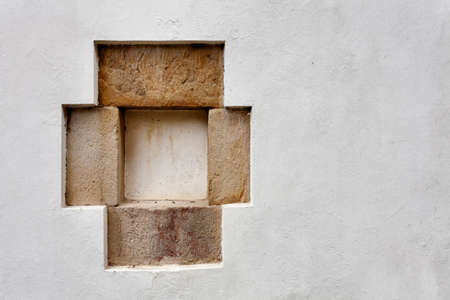 Beautiful little stone frame detail. North Spain traditional. Stock Photo - 22963644