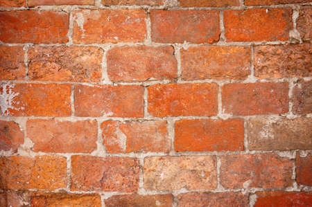 Nice old brick wall for background or texture. Macro shot. photo