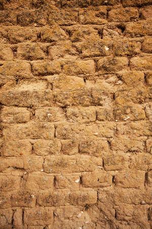 adobe wall: Adobe muro dettaglio macro shot per lo sfondo o Textute
