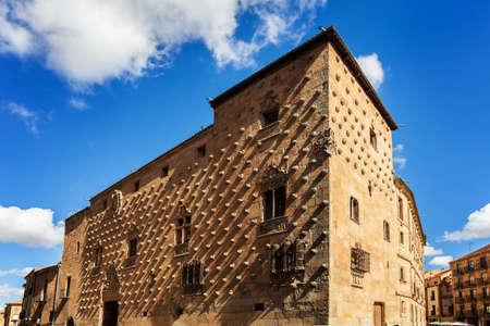 Casa de la Conchas (House of Shells) in Salamanca, Spain. The old city of Salamanca was declared a UNESCO World Heritage site in 1988.