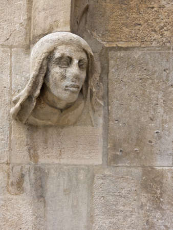 xv century: Architectural detail of the Cathedral of Burgos, Spain XV century Stock Photo