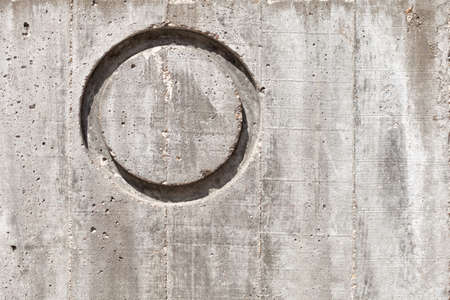 Letter O over concrete wall Horizontal. Texture or background.