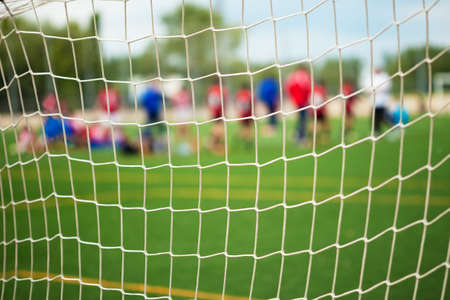 sports uniform: Soccer Match with selective focus for Sports Backgrounds Stock Photo