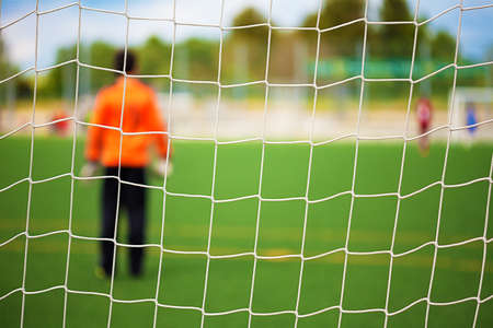 Goalkeeper with selective focus for Sports Backgrounds
