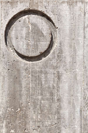 concrete block: Letter O over concrete wall Vertical. Texture or background.