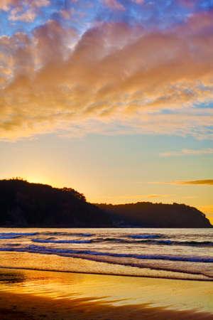 Sunset at the beach in a Spanish beach