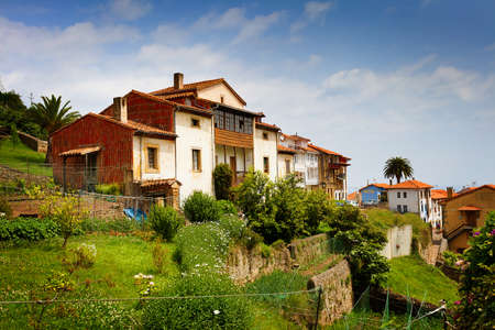 northern spain: Beautiful cottages in Northern Spain. Lastres, Asturias.