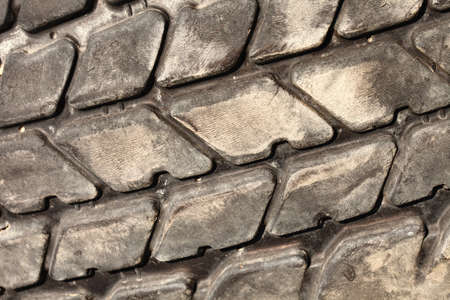 Old truck tire detail