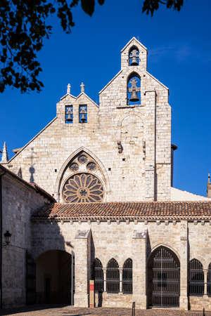 Bell tower of St Francisco Church, Palencia, Castilla y Leon, Spain. Stock Photo