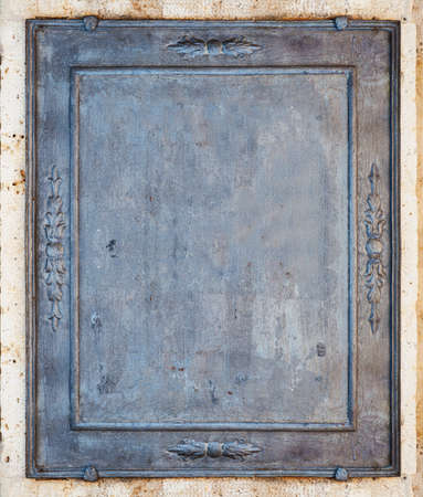 Old metal frame empty for background or texture