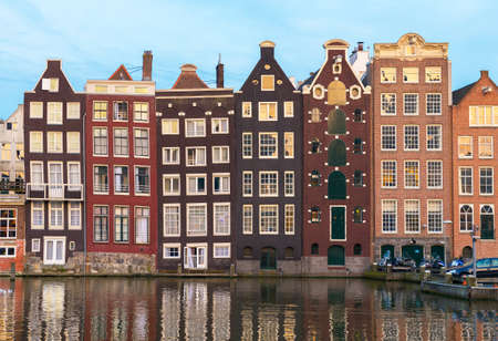 Amsterdam, old houses along the canal