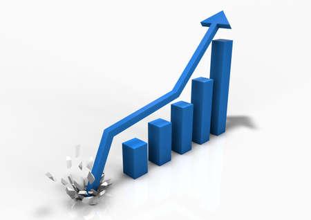 grafica de barras: Gr�fico de barras de negocio en auge