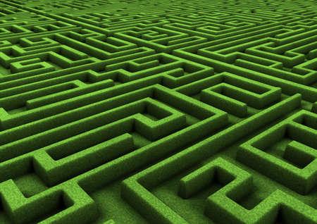 laberinto: laberinto verde Foto de archivo