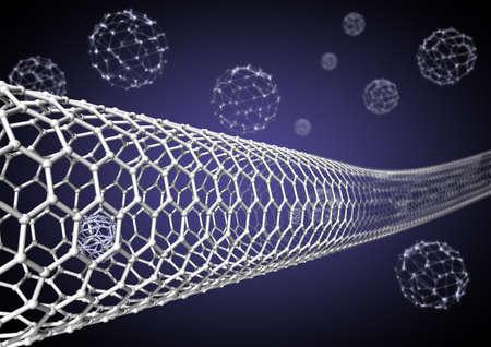 Nano tube Stock Photo