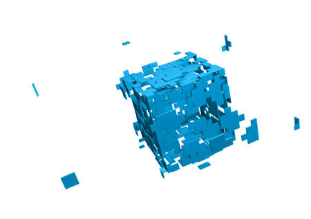 Shattered cube Stock Photo - 9923615