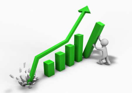 graficos de barras: procesamiento de una persona que ayuda a hacer un negocio crecer