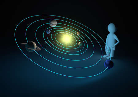 orbit: solar system Stock Photo