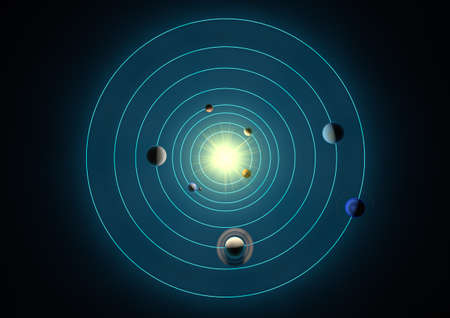 solar system seen from above photo