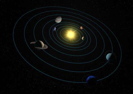 solar system Reklamní fotografie