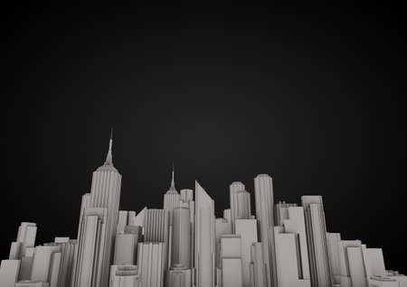 city on black background Stock Photo - 10414955