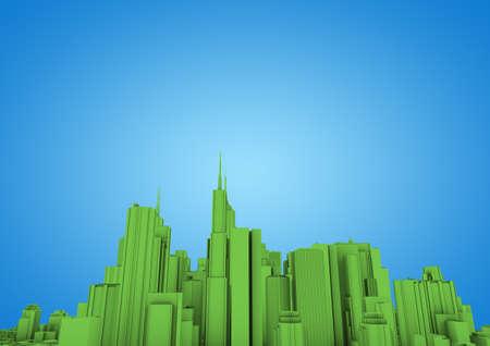 green abstract city Stock Photo - 10414957