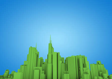 green abstract city Stock Photo - 10414957