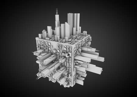 Abstract city cube