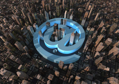 Internet city Stock Photo